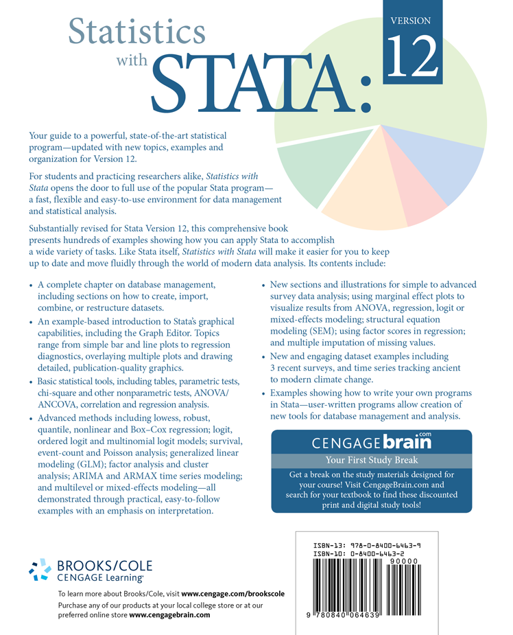 Stata Bookstore: Statistics with Stata: Version 12, Eighth Edition