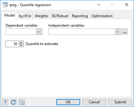 Quantile regression | Stata