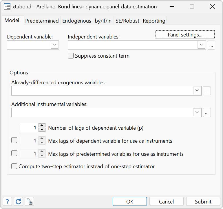 Dynamic panel data analysis | Stata