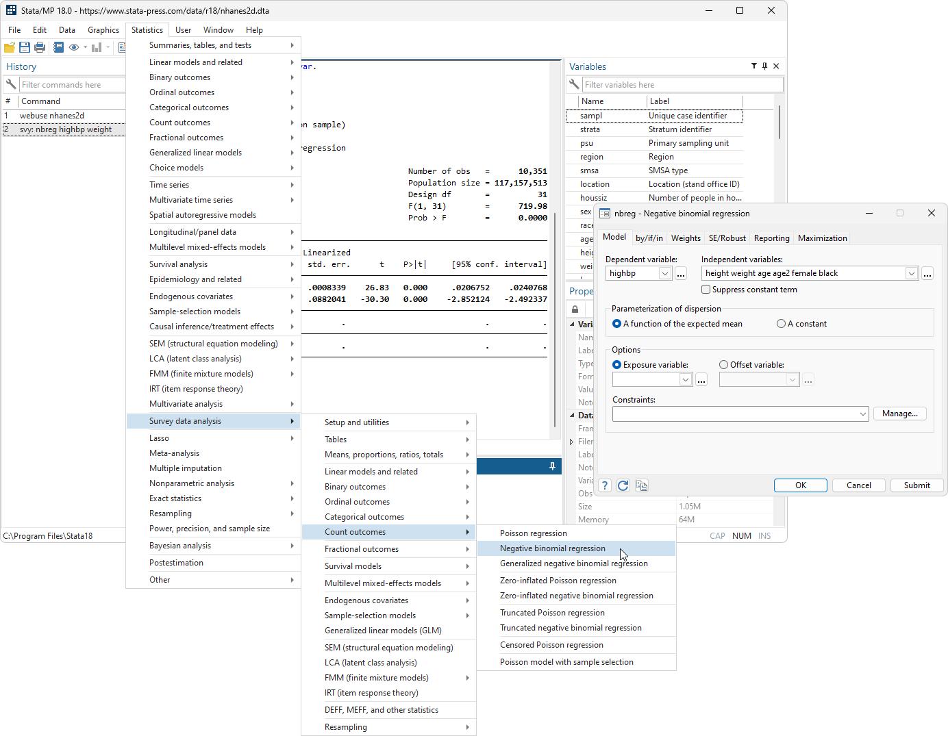Statas Interface Stata