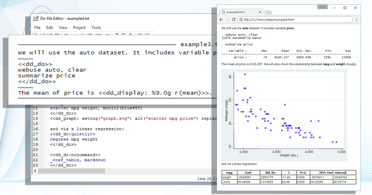 Convert dynamic Markdown documents to Word or HTML | Stata