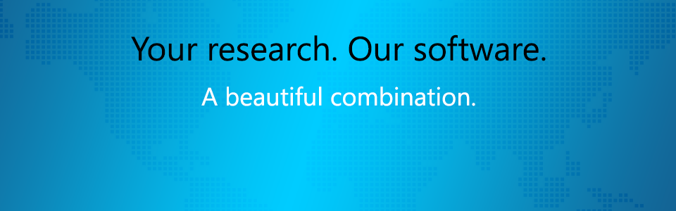Your research. Our software.
