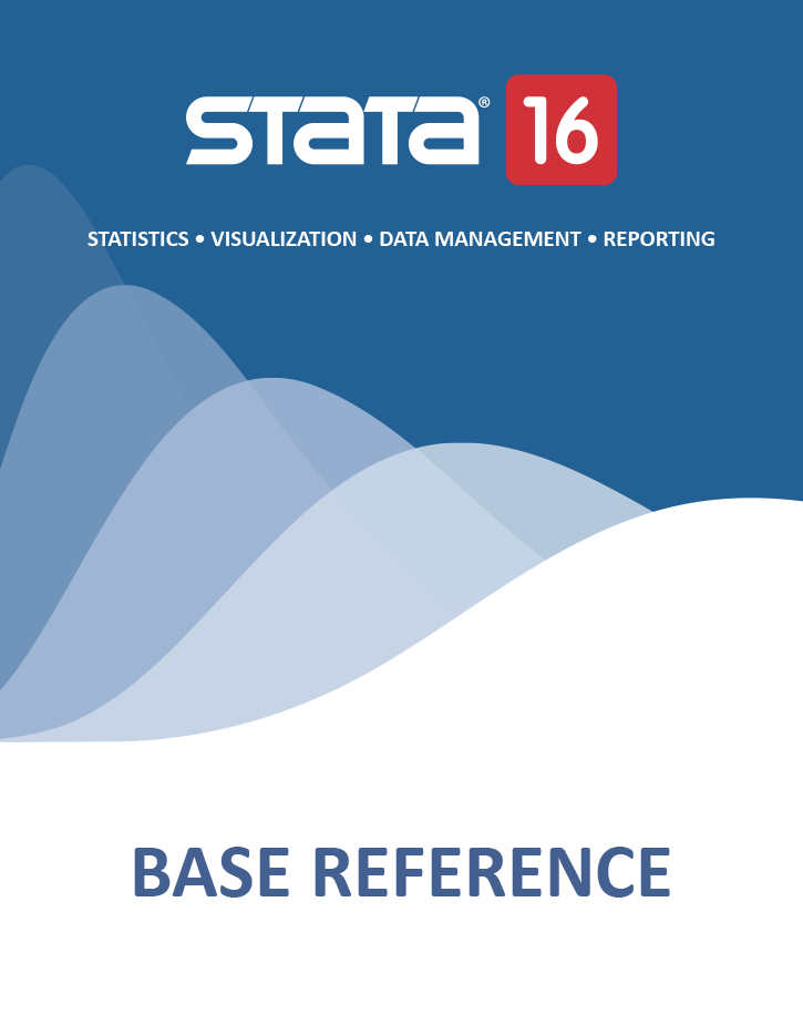 Stata Bookstore   Base Reference Manual, Release 16