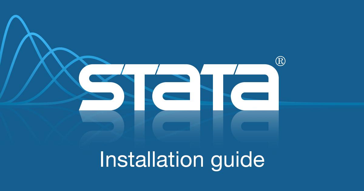 Installation guide   Stata