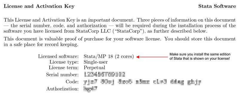 Stata Installation Guide