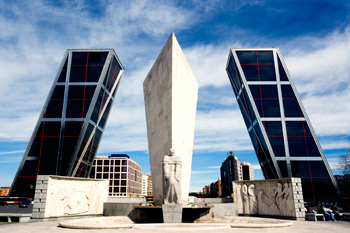 Puerta de Europa in Madrid, Spain