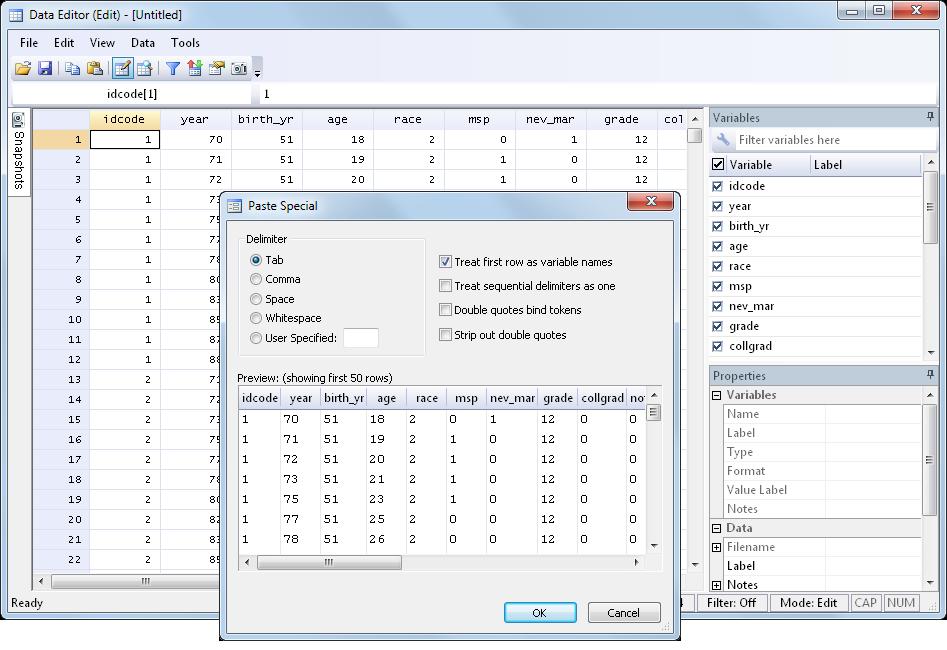 Stata 软件|Stata 13|Stata 代理 DATA EDITOR