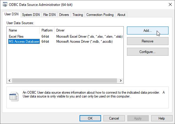 Stata | FAQ: Configuring ODBC in Windows