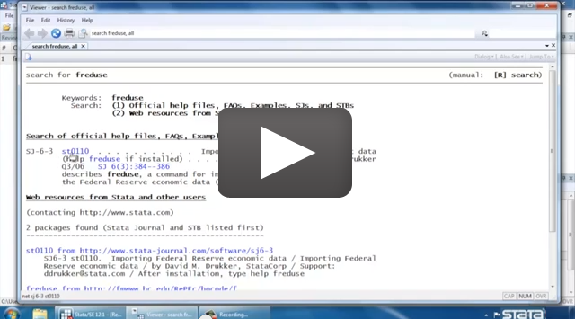 video: quick tour of Stata