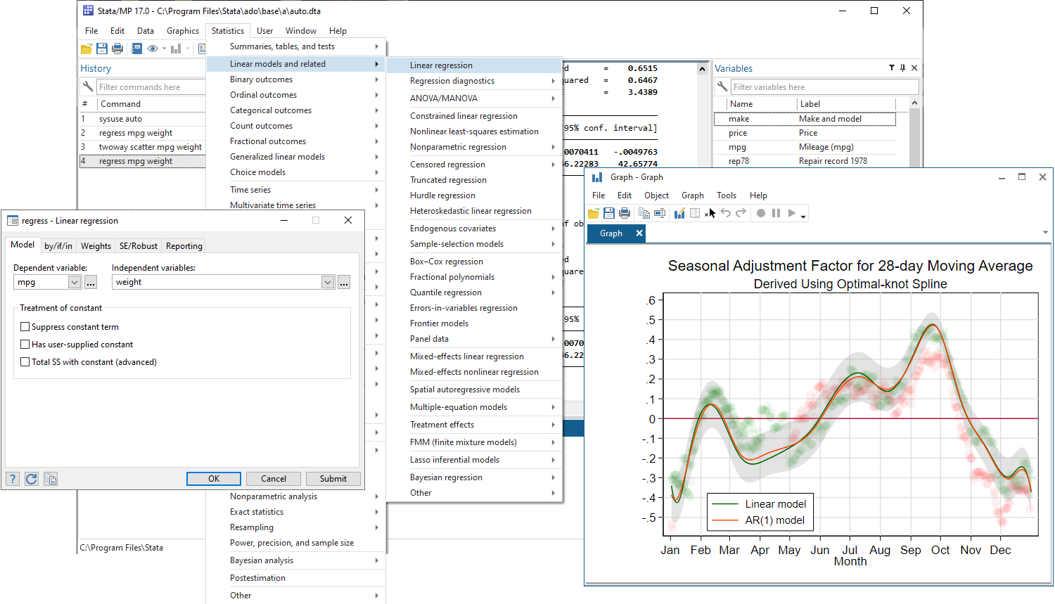 Stata interface